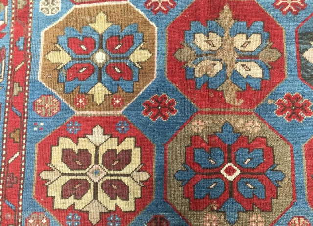 Antique karabag rug framented,190 x 120 cm