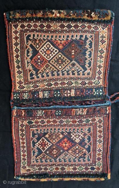 Persian bahtiyari kurdish saddle bag , in good condition 92 x 56 cm