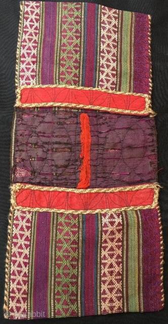 Shasavan silk jajim saddle bag,48 x 21 cm