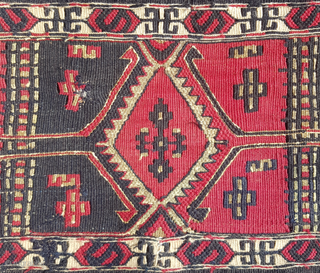 19.th century East Anatolian Chuval 72x112