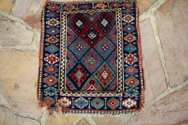 A conditionally challenged Jaf Kurd Bagface with great all-natural saturated colors. It measures 2x2.3 Ft in size.  Please message me for more information or to make an offer.    It's reasonably priced just  ...