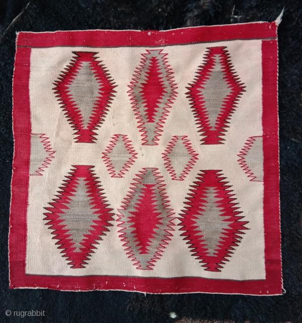 very nice navajo horse blanket very fine weave first half 20th century