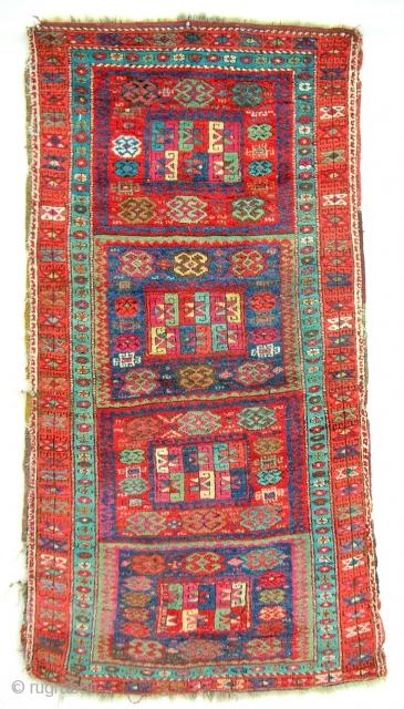 East Anatolian Kurdish rug with high, silky pile. c. 1850-70.