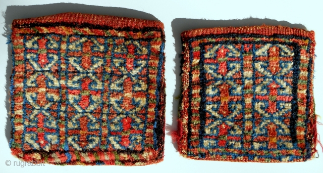 "Small and smaller: 2 Persian ""fractal"" chanteh. Complete and original and perfect. And beautiful. Later 19th c."