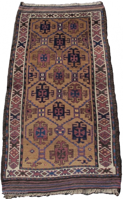 "camel ground Baluch rug, 2'9""x5'0""  https://www.peterpap.com/product/baluch-rug-39/"