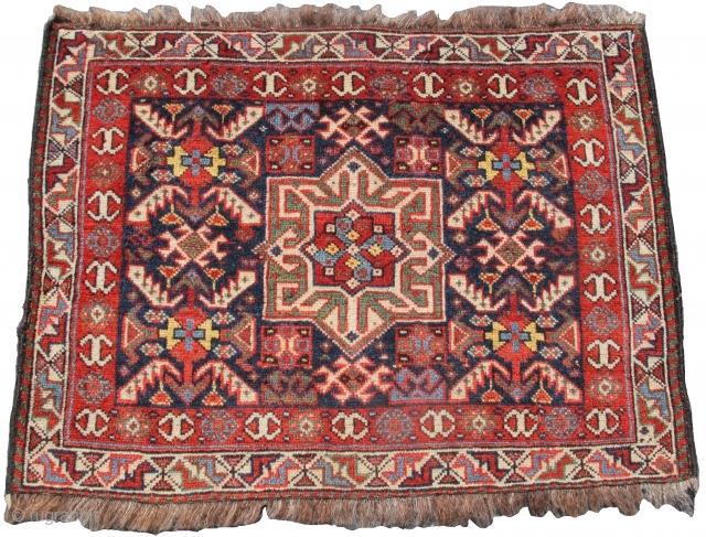 Khamseh bagface with a Basiri design