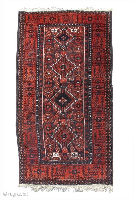 """Baluch Salar-Khani rug, 3'9"""" x 7'0""""  https://www.peterpap.com/product/baluch-rug-28/"""