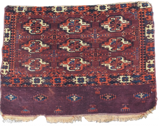 "Yomut or P-Chodor Turkmen chuval, 3'1"" x 2'5""