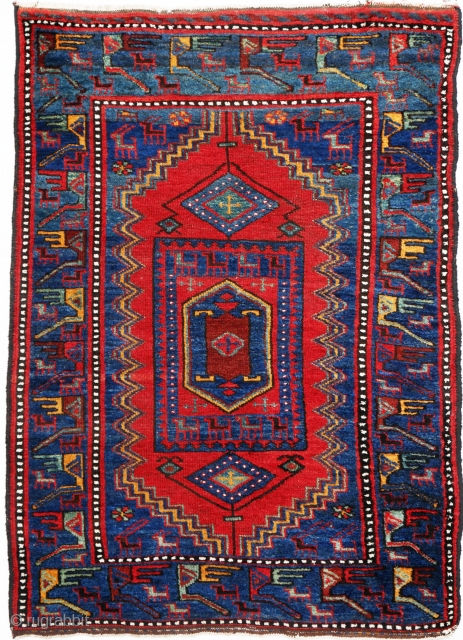 This is a rare and well preserved Kalardasht rug from the Elburz Mountains in the north east Iran. The production of Kaladascht is very limited with hardly any coming out of the  ...
