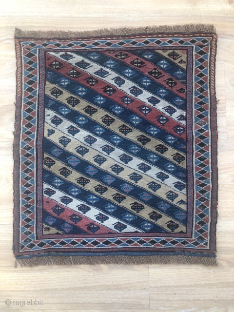 A nice Bijar bag face, about 100 years old  with naturall dyed colors,51x47 cm,pls not to hesitate to ask any question.