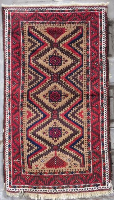 Antique Baluch Rug Size.143x83 Cm