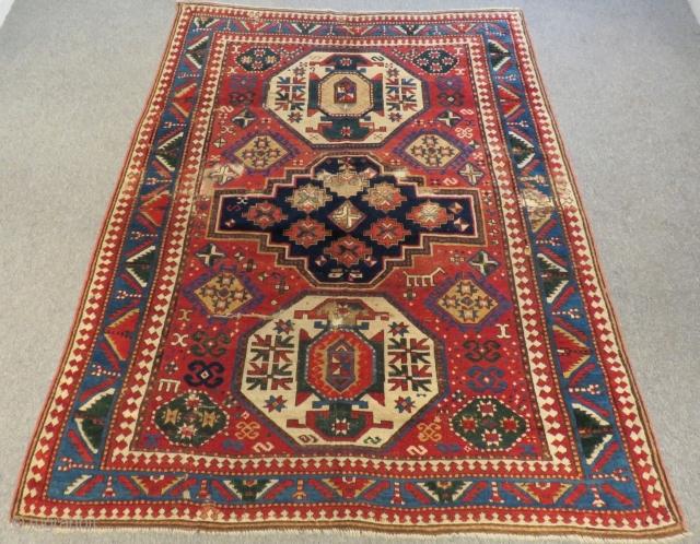 Antique Caucasian Lori Pambak Rug Circa 1870-80  Size.205x153 Cm