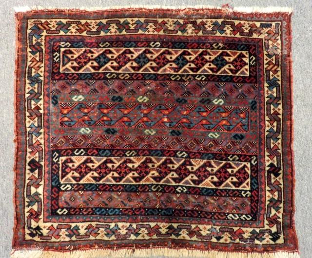 Antique Qashqai Bagface Size.61x53 Cm