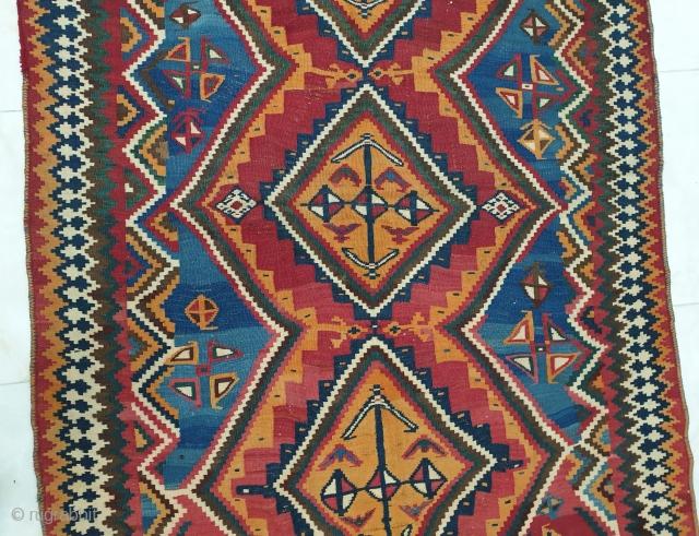 Authentic lori kilim,excellent condition  ,no repairs,have nice abrashes in blues Measurements:270*154 cm, circa 1940