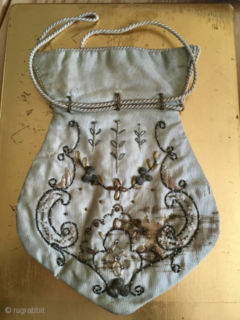Rare European Purse C18th  origin ? 22 * 16 cm