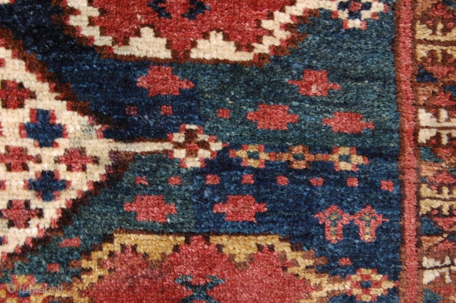 """pre 1900 full pile antique Ersari trapping 139 x 42 cm (4ft 8"""" x 1ft 5"""") last quarter 19th century. All dyes appear natural to me, colours brownish red, blue, green, yellow,  ..."""