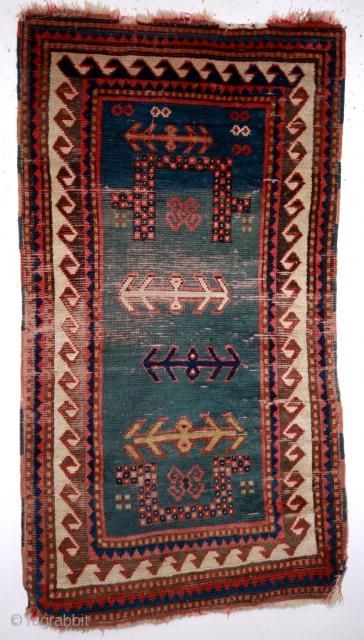 Caucasus, Armenia, Bordjalou, small prayer rug for a child. 118 x 62 Cm.  19th century.