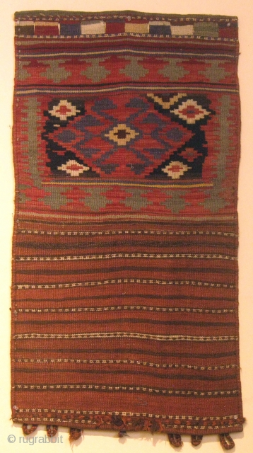 Veramin, Iran, Half Saddle Bag Wool, natural and synthetic dyes 1940 45.5 x 25 inches (115.5 x 63.5 cm)