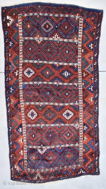 #7748 Antique Yoruk Turkish Rug