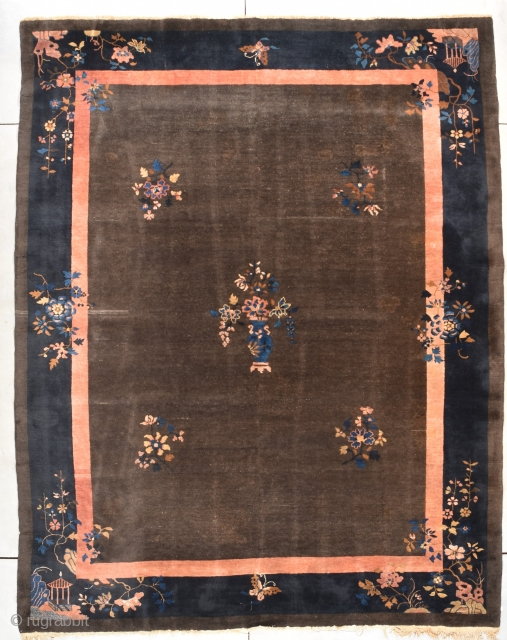 Antique Peking Chinese Rug  #7850