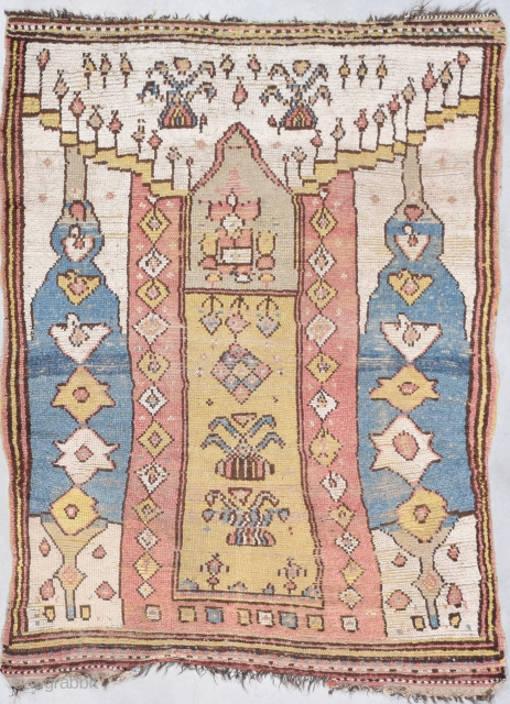 "Antique Manastir Rug 4'1"" X 5'4"" #7916