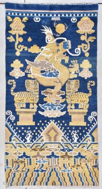 #7771 Antique Peking Chinese Rug 3'8 x 7'2 Size: 3'8″ x 7'2″ (111 x 218 cm)  Age: 1860-1880  Price on request https://antiqueorientalrugs.com/product/7771-antique-peking-chinese-rug/