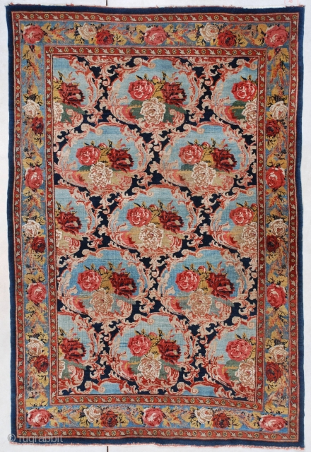 #7472 Bidjar Antique Persian Rug 4'4″ X 6'6″