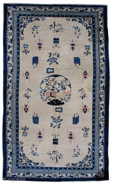 #7263 Antique Peking Chinese Rug 