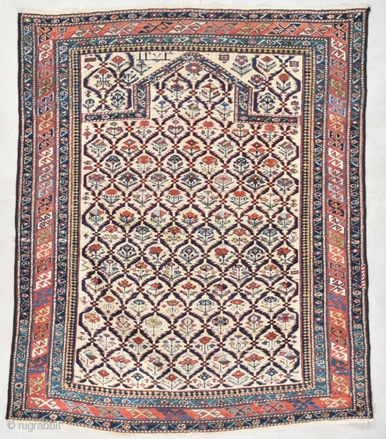 #7559 Marasali Shirvan Antique Caucasian Rug