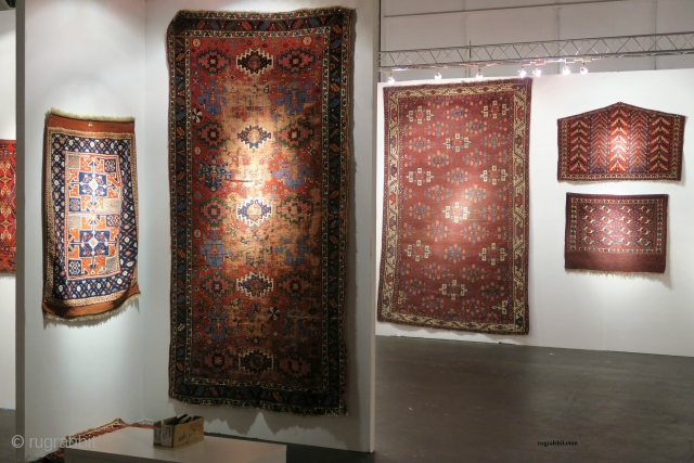Rug and textile highlights from the San Francisco Tribal and Textile Art Show, 2018 including 'Artful Weavings' a sale exhibition of pieces from private collections by Peter Pap Antique Rugs.   The show  ...