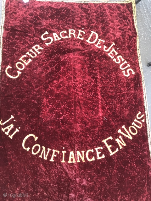 French Religious Banner