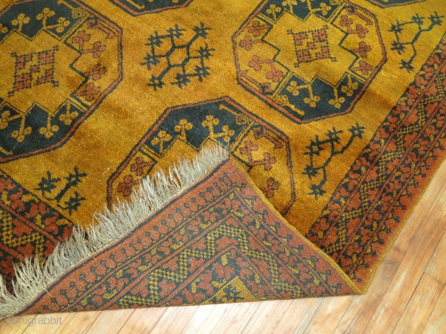 Antique Golden Yellow Ground Ersari.  4'11''x6'3''.  Excellent condition.