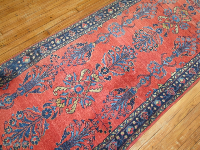 Antique Persian Lilihan Mohajeran Design RUnnner.  3'7''x20'.  Excellent condition.  Nothing to report.
