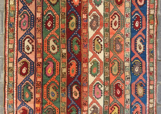 Armenian Shall rug very nice colors and excellent condition all original size 3,17x1,10 cm ( 42 x 125 inches ) Circa 1910