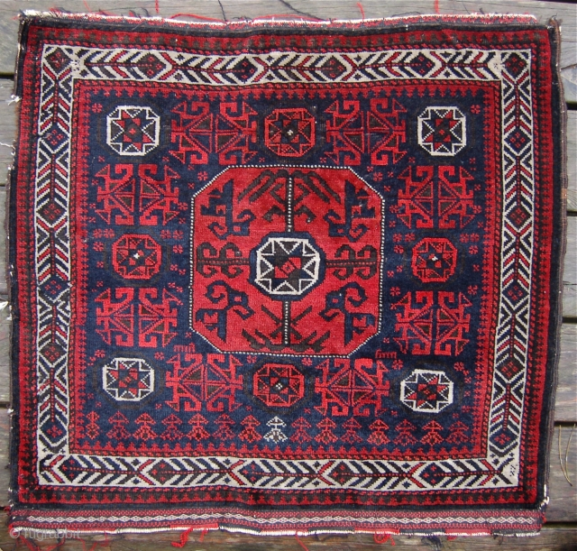 Baluch bagface. 19th century. Full pile with some very minor moth damage. 67 x 73cm.
