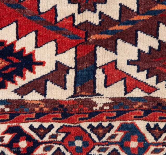 Turkmen Yomud Asmalyk with some condition issues 67 x 111 cm / 2'2'' x 3'7''