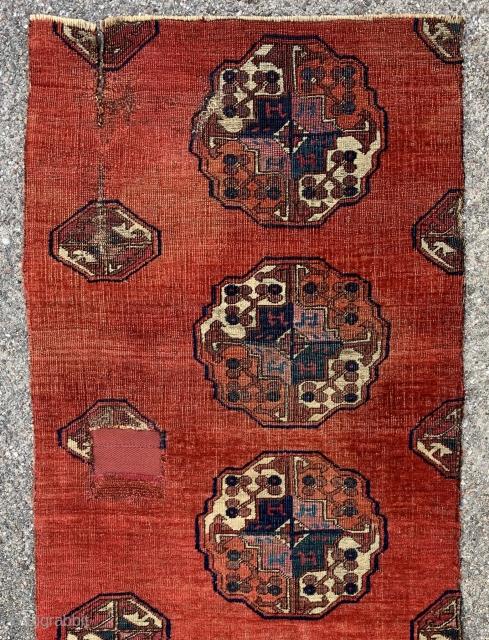 Turkmen salor maincarpet fragment , 75x50cm