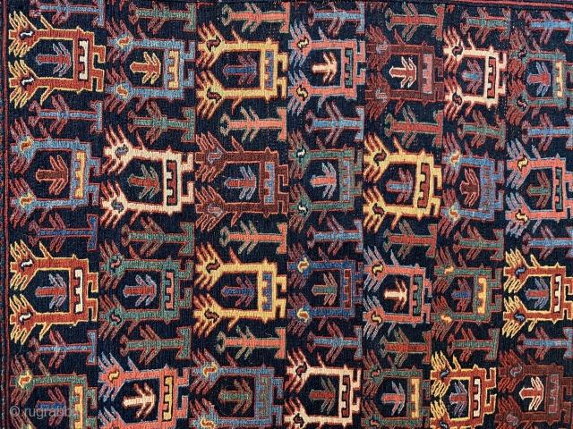 Rare Shahsavan bagface 81x78cm