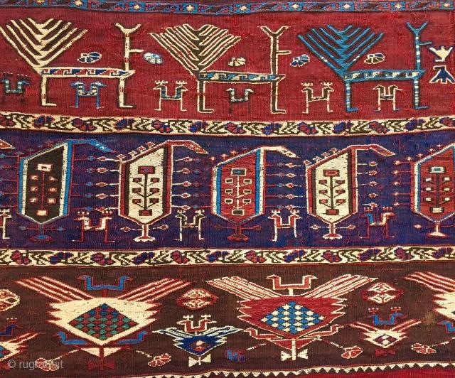 Early great shaddah kilim fragment 185x70cm