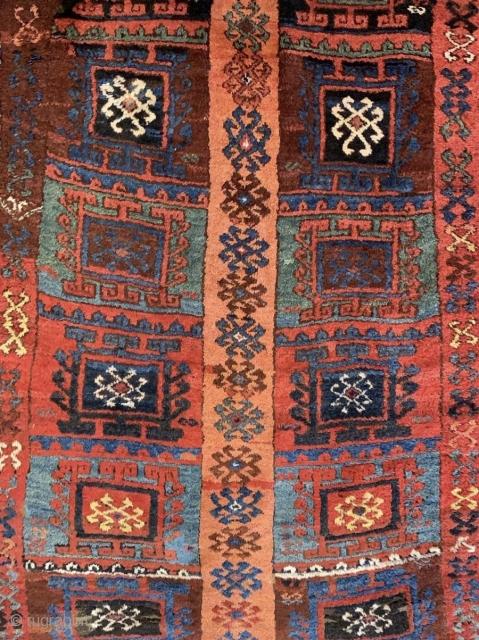 Detail of a rare East Anatolian Kurdish rug.