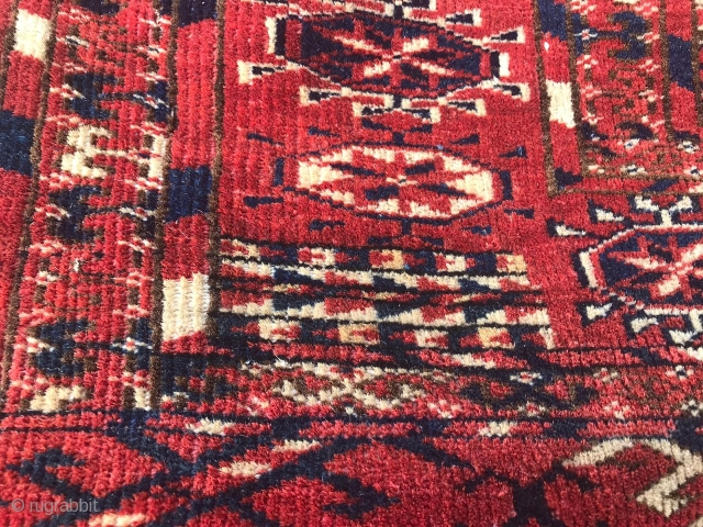 An old Turkmen Tekke carpet. Size: 110 x 180 cm. Circa 1900