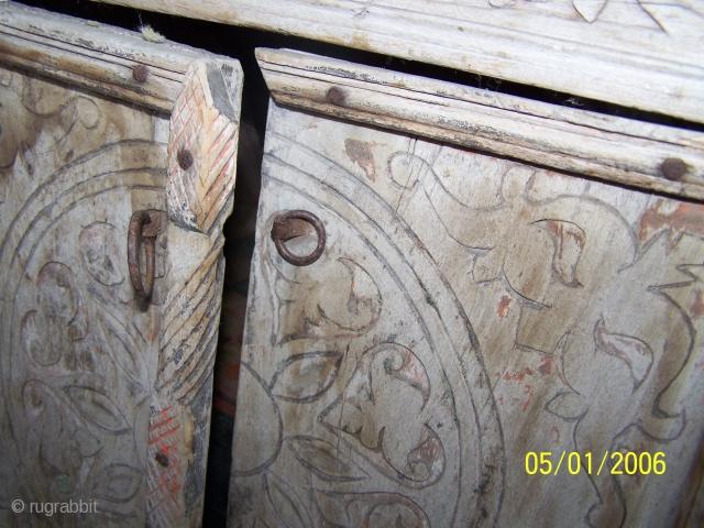 Asadal - food chest, wood ,carving, Karakalpakstan, 1940 120 X 70 X 50 cm.