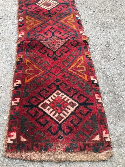 Kazakz or Uzbek, Yastık / Napramash,Cenral Asian ( non-Turkmen) 32 X 100 cm.1930,