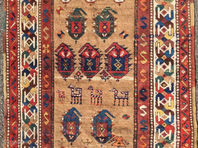 19th century Shasavan Runner North West Persian  Very attractive piece, no restoration ,mint condition  Material:Sheep wool ,Camelhair  Dye : vivid natural dyes  Size : 326 cm L / 107 cm W  In  ...