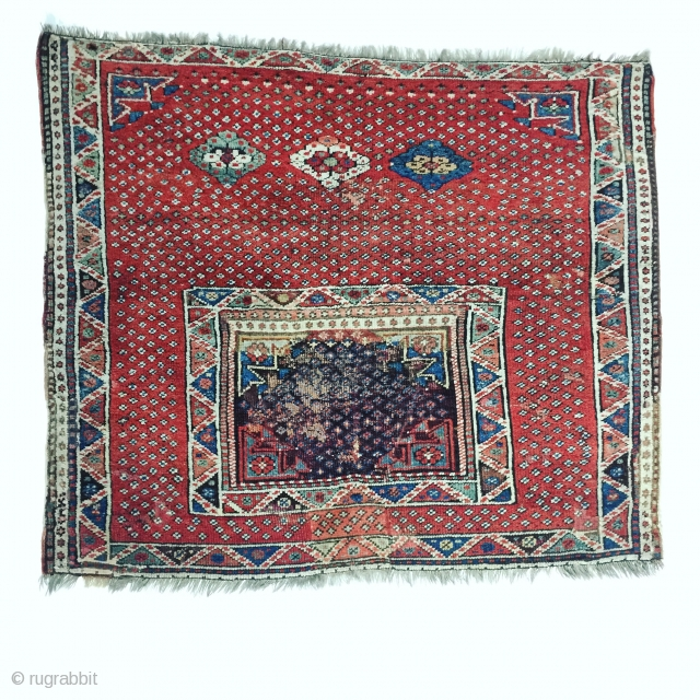 Antique Anatolian saddle cover rug 1850  - 1870 second half 19th Century properly  Sivrihisar region province Eskişehir   central Anatolian please ask for more information pictures