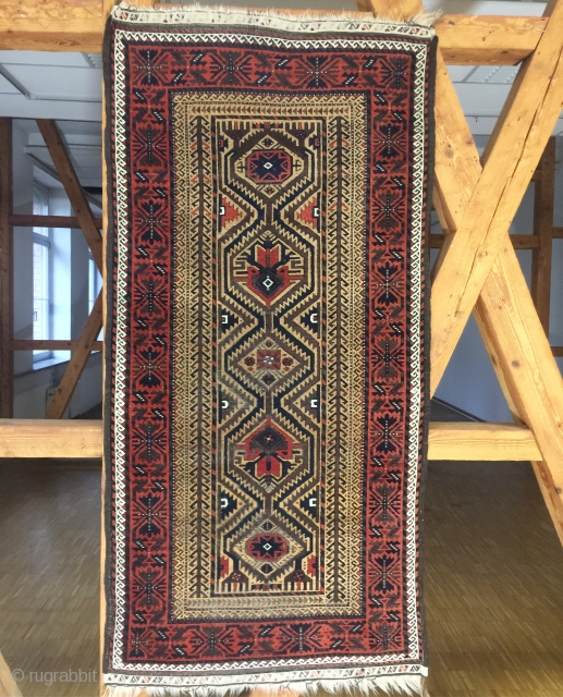 Antique Baluch  circa 1890 wonderful condition and drawing 