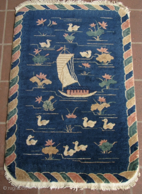 """1920s Whimsical 3' 0"""" x 4' 9"""" Chinese.  Quote includes ship/U.S.  3 day returns."""