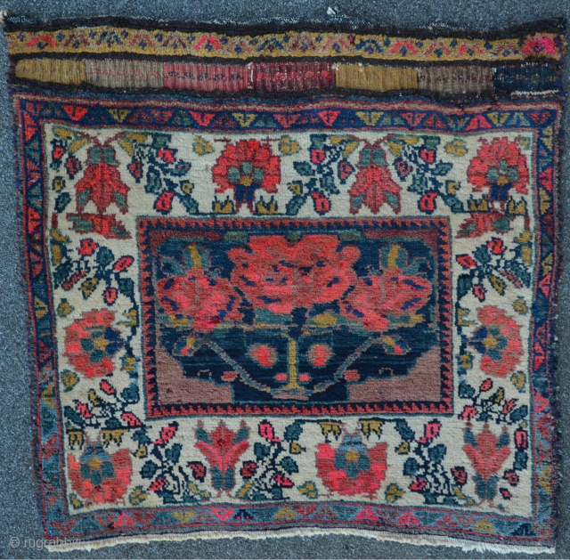 Lovely Afshar bagface with meaty floor, 67 x 65 cm