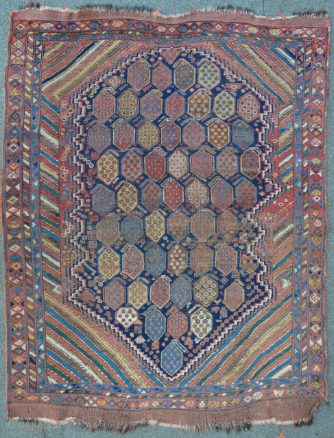 A 19th C. Afshar in as found condition, 162 x 126 cm