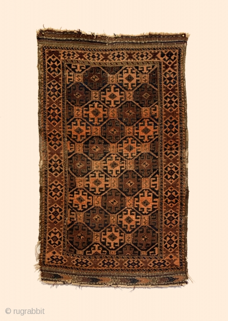 Antique Small Baluch Rug. Circa Early.